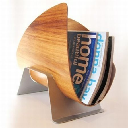 Sail is a trendy shelter for your magazines hometone for Trendy magazine rack