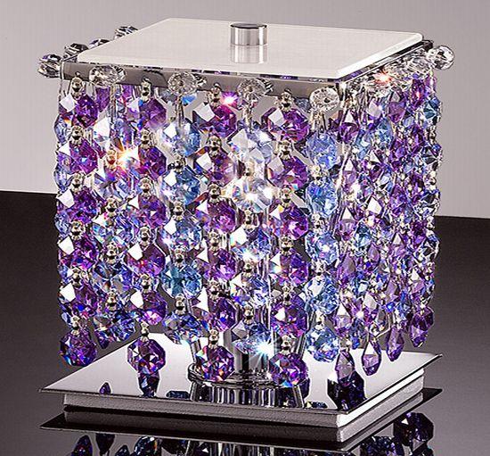 Haute decor crystal light trinkets the room with sparkle for Haute decor