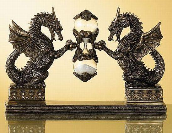 medeival dragon hourglass