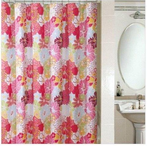 Microfiber shower curtains shower curtain floral show image title