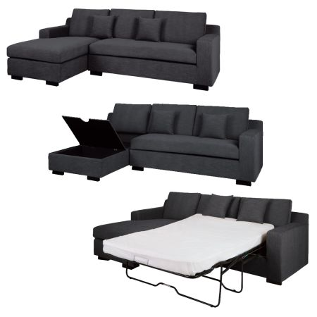 Corner sofa bed 7 most comfortable hometone home for Grey divan bed with storage