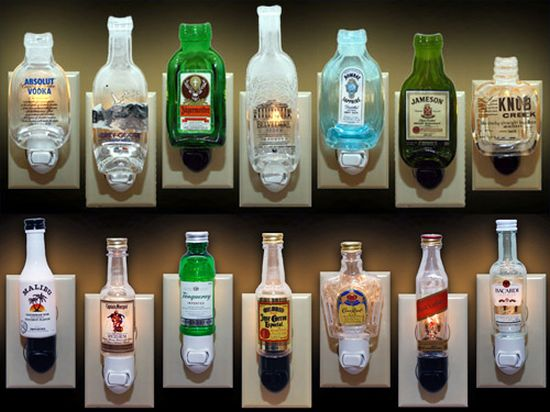 miniature liquor bottle night lights