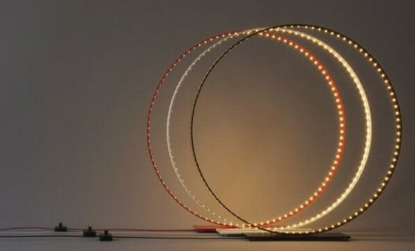 Minimalist LED Ring Lamps