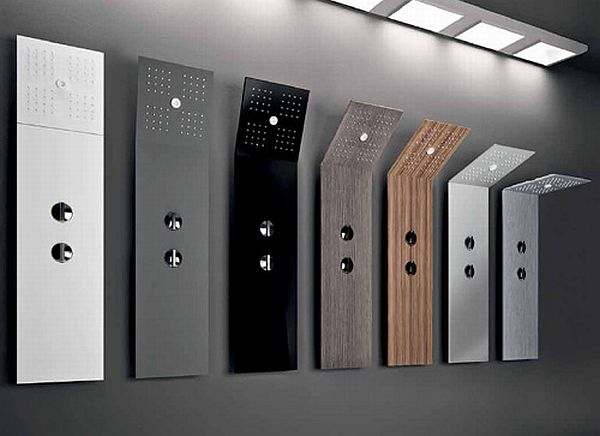 minimalist shower columns for compact bathrooms hometone home automation and smart home guide. Black Bedroom Furniture Sets. Home Design Ideas