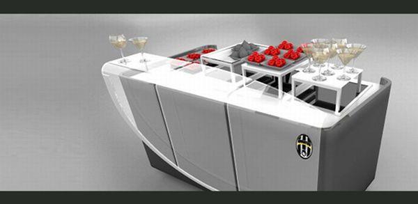 mobile kitchen buffet