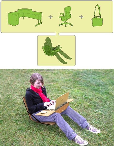 mobile portable work desk