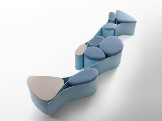 modern and creative wall panel and seating system