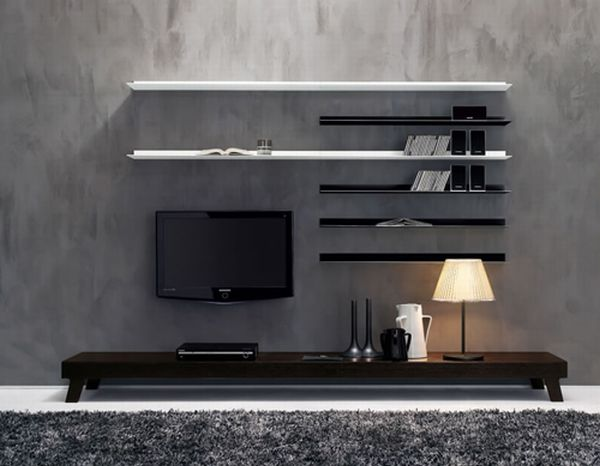 modern and sleek wall unit system