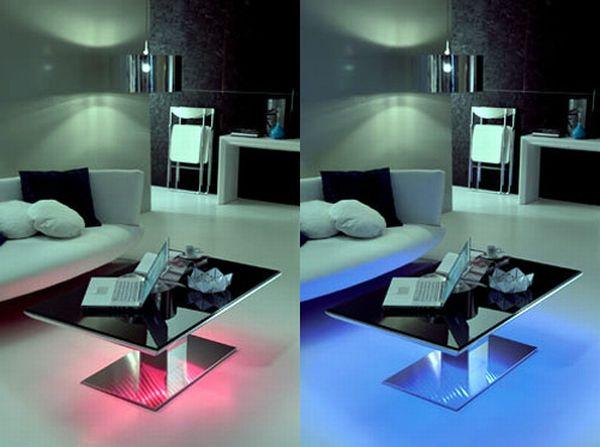 Modern LED Lighted Tables