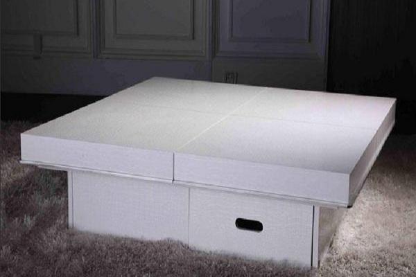 Modern white crocodile coffee table