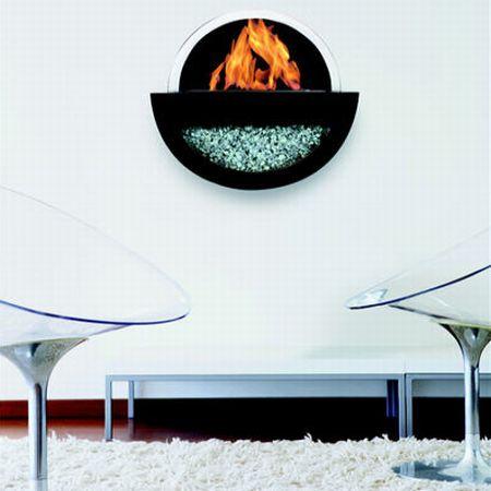 moon fireplace