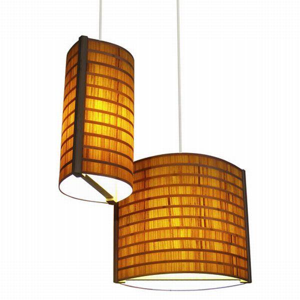 Moso Endgrain Bamboo Lamp