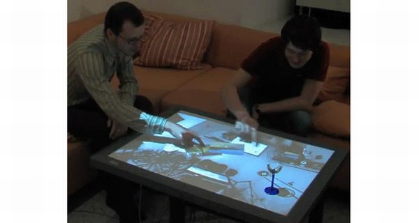 Multi-Touch Coffee Table Concept
