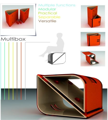 Transformable Multibox For Convenient Spaces Hometone
