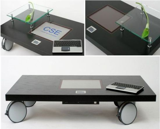 Multimedia Computer Coffee Table Hometone