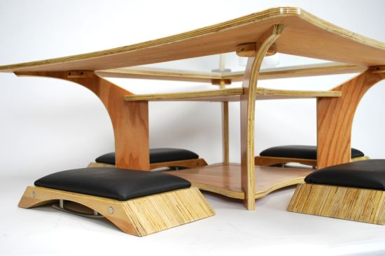 Nazo Table With Integrated Seats Hometone