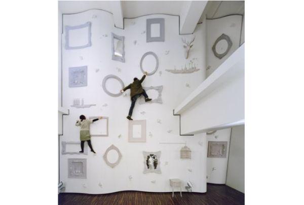 Nendo climbing wall