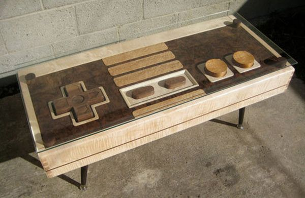Nintendo NES controller table blends fun with functionality