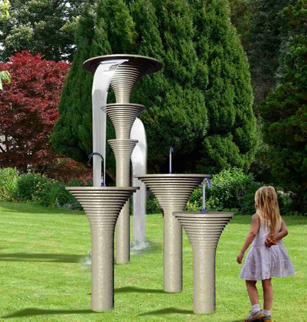 nuUsual Stone Outdoor Shower - Vulcano by Wet
