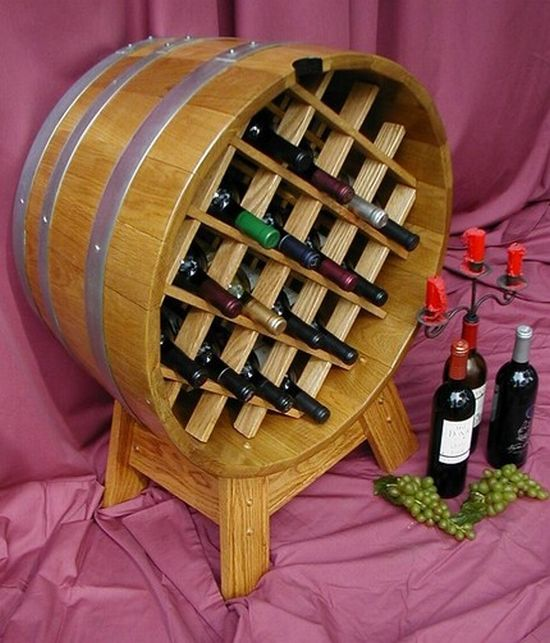 oak barrel wine rack image 1 59