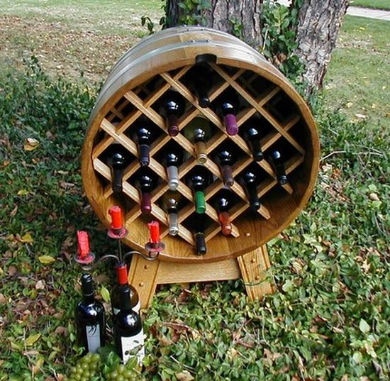 oak barrel wine rack image 2 59
