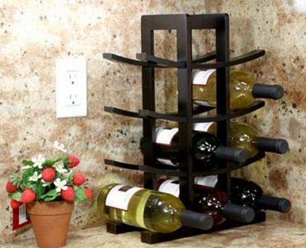 Oceanstar Bamboo Countertop Wine Rack