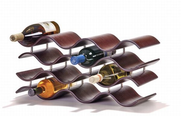 Oenophilia Bali 12 Bottle Wine Rack in Ebony