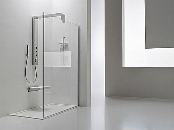Minimalist shower columns for compact bathrooms hometone for Home automation shower