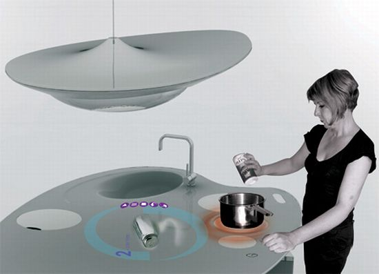 Oniris Futuristic Kitchen Blends Style With Technology