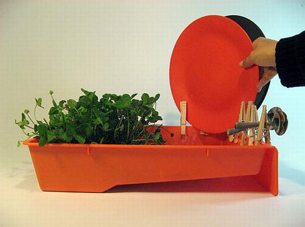 Orange Dish Rack