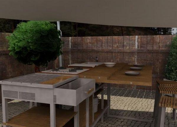 Outdoor kitchen by Joaquin Bastos