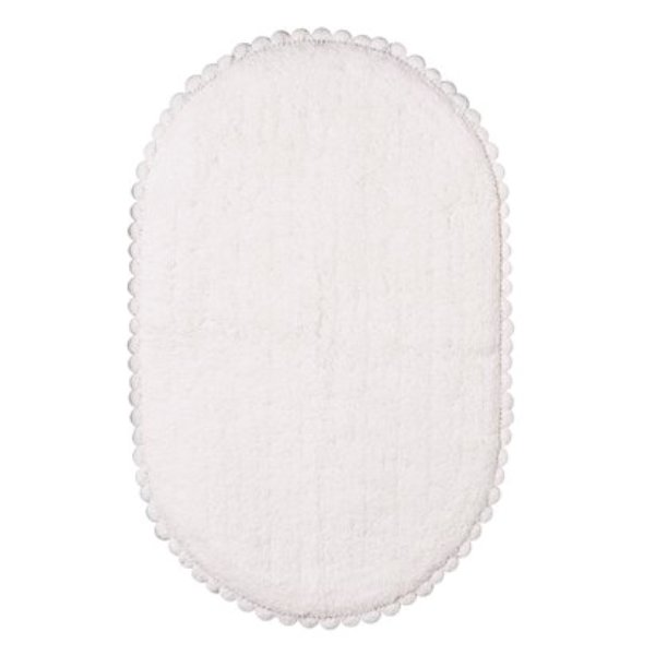 Oval crochet rim Bath rug