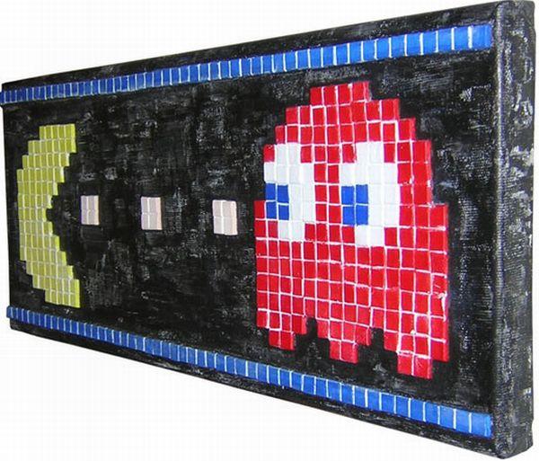 Pac man mosaic art