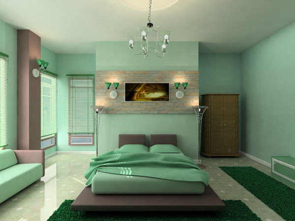 Paint in garden bedroom