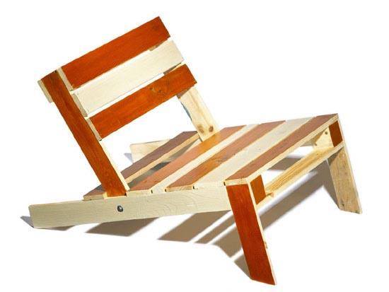 pallet beach chair by cornelia parker