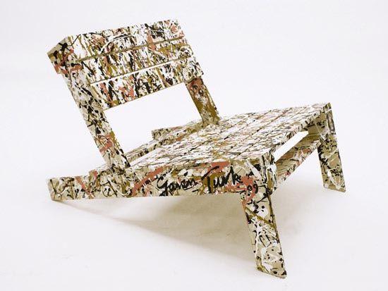 pallet chair pollocky by gavin turk