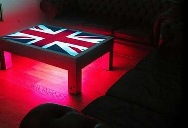 Patriotic Union Flag LED Coffee Table