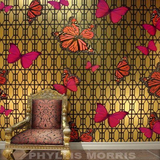 phyllis morris butterflies wallcoverings
