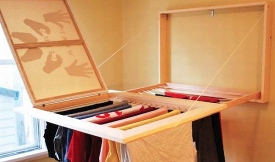 picture frame hides an undercover drying rack 2
