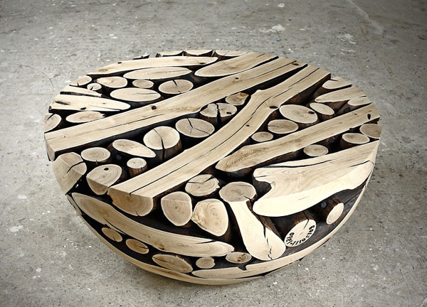 Pine carved wooden Table