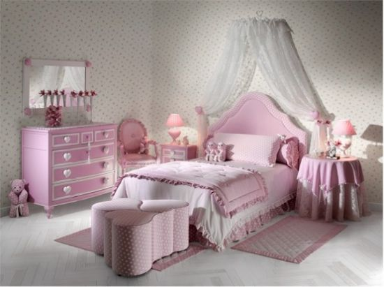 pink wall stickers pink bed design