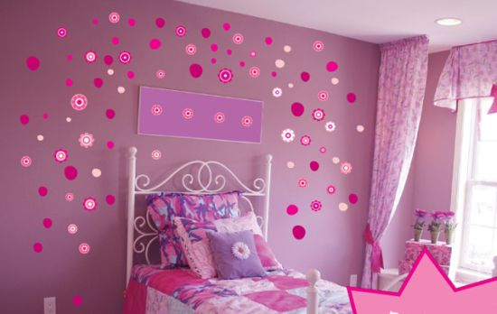 pink wall stickers