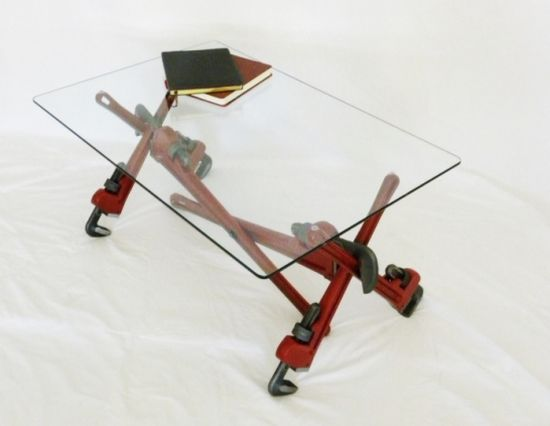 pipe wrench coffee table 2