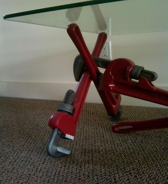 pipe wrench coffee table 3