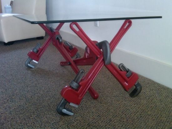 pipe wrench coffee table 5
