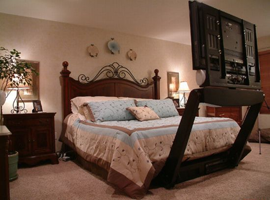 now eclipse your plasma tv underneath the bed video. Black Bedroom Furniture Sets. Home Design Ideas