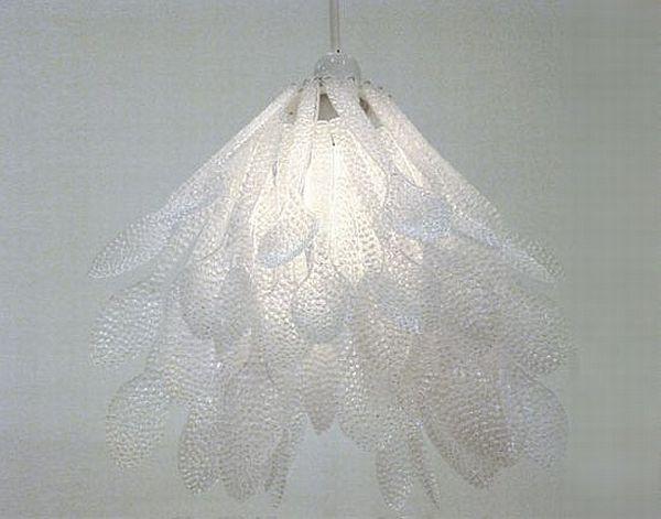 Plastic spoon chandeliers