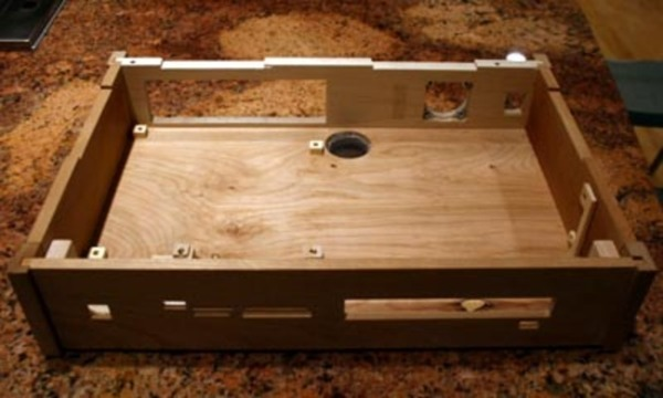 Plywood computer case