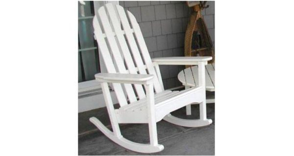 Poly-Wood Recycled Plastic Classic Adirondack Rocking Chair