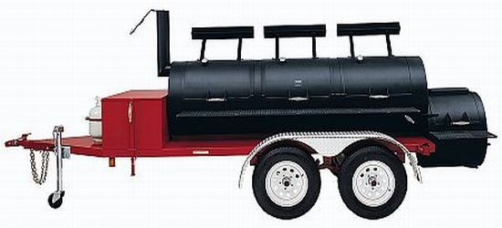 portable smoker grill trailer